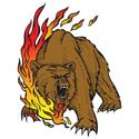 Flaming Bear Tattoo