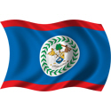 Wavy Belize Flag