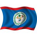 Wavy Belize Flag