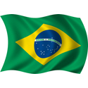 Wavy Brazil Flag