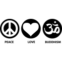 Peace Love Buddhism