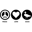 Peace Love Duck
