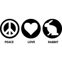 Peace Love Rabbit