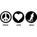 Peace Love Wolf