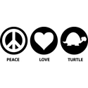 Peace Love Turtle