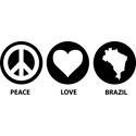 Peace Love Brazil