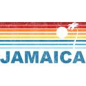 Retro Jamaica Palm Tree