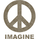 Vintage Imagine Peace