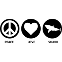 Peace Love Shark