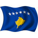 Wavy Kosovo Flag