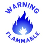 Flammable (blue)