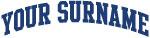 Blue Surname Design