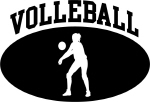 Womens Volleyball (BLACK circle)