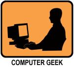 Computer Geek (orange)