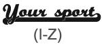 Sporty Sport (I-Z)