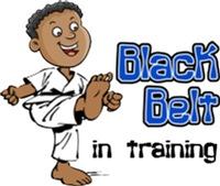 Black Belt in Training - African American Boy