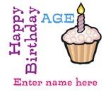 Personalized Birthday Cupcake