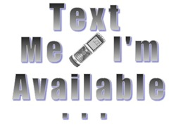 Text Me I'm Available