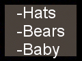 Hats - Teddy Bears - Baby Clothes