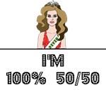 I'M 100% 50/50