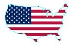 USA Flag Shape