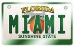 Florida License Plate [MIAMI]