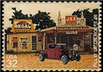 Postage Stamp-Rat truck-Gas