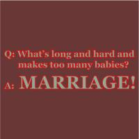 What's Long & Hard And Makes Babies? Marriage!