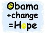 Obama + change=HOPE
