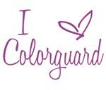 I Love Colorguard - Purple