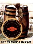 Kitten on Barrel