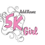 Personalize Pink 5K Girl