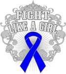 Colon Cancer Fight Like A Girl Deco Shirts