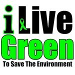 I Live Green For The Environment T-Shirts & Gifts