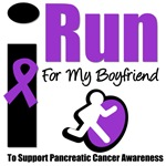 I Run For Boyfriend Pancreatic Awareness T-Shirts