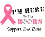 I'mHereForTheBoobs Breast Cancer T-Shirts & Gifts
