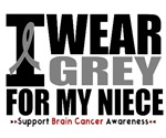 I Wear Grey (Niece) Brain Cancer Shirts & Gifts
