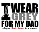 I Wear Grey (Dad) Brain Cancer Shirts