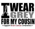 I Wear Grey (Cousin) Brain Cancer Shirts & Gifts