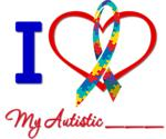 Autistic Ribbon Love Shirts & Gifts