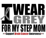 I Wear Grey Step Mom Brain Cancer Shirts & Gifts
