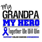 Colon Cancer Hero Grandpa Shirts & Gifts