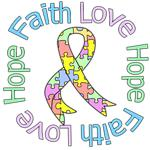 Faith Love Hope Pastel Autism Shirts & Gifts