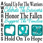 Stand Up Celebrate Honor Ovarian Cancer Shirts
