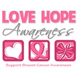 Love Hope Awareness Breast Cancer Gifts