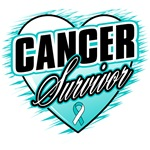 Cervical Cancer Survivor Grunge Heart Shirts