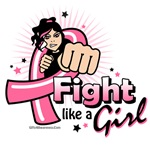 Fight Like A Girl Animated Shirts