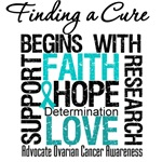 Finding A Cure Ovarian Cancer Shirts