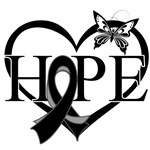 Melanoma Hope Heart
