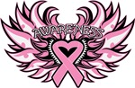 Breast Cancer Heart Wings Shirts